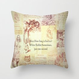How long is forever? Alice in Wonderland Throw Pillow