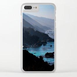 Big Sur Blue Clear iPhone Case