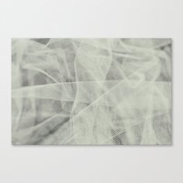 White Tulle Canvas Print