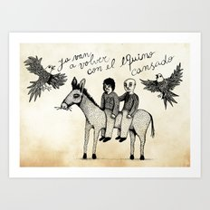And you will return with your horse tired Art Print
