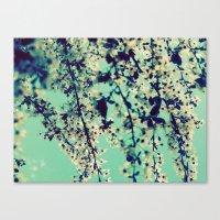 indigo Canvas Prints featuring Indigo by Monica Ortel ❖