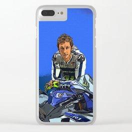 Rossi Valentino Desain 002 Clear iPhone Case