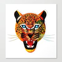 jaguar Canvas Prints featuring jaguar by Alvaro Tapia Hidalgo