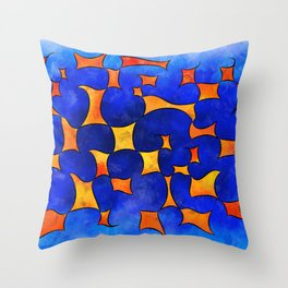 Blesmios V1- melting cubes Throw Pillow