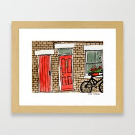 Number 7 Framed Art Print
