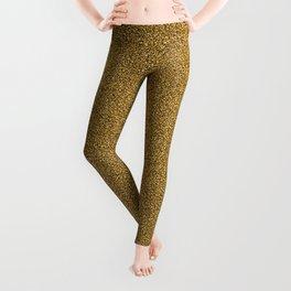 Vintage Gold Glitter Leggings