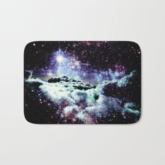 Pastel Galaxy Clouds Bath Mat