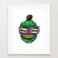 rave Framed Art Prints featuring Rave by Beat