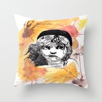 les miserables Throw Pillows featuring Les Miserables by Taylor Starnes
