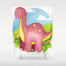 Brontosaurus by Heidi Nickerson Shower Curtain