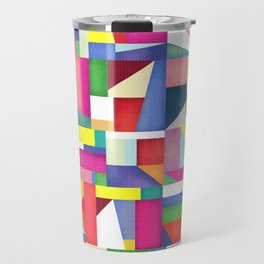 Colorful grid design Travel Mug