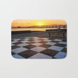 Checkerboard Sunset Bath Mat