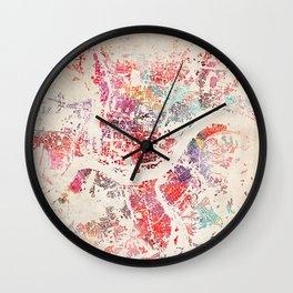 cincinnati map Wall Clock