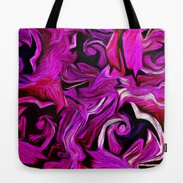 Rose Patch in Abstract Tote Bag