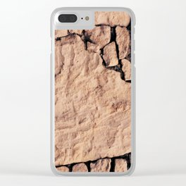Stone pattern Clear iPhone Case