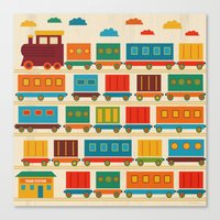 train Canvas Prints featuring Train by Kakel
