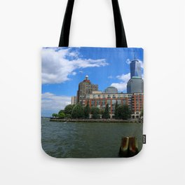 Manhattan And Hudson River Tote Bag