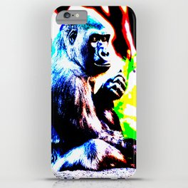 Abstract Gorilla 1 iPhone Case