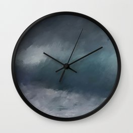 Blue Stormy Sea Wall Clock