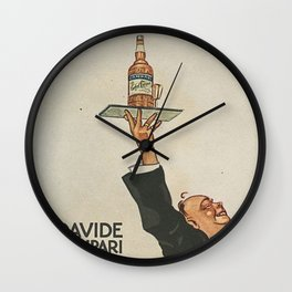 Vintage 1920 Cordial Campari Advertisement by Luigi Caldanzano Wall Clock