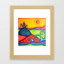 Boho Village Framed Art Print