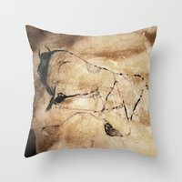picasso Throw Pillows featuring Before Picasso by anipani