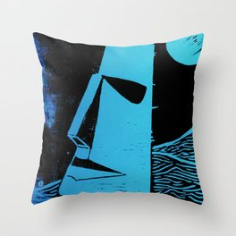 Photo Blue - Abstract Surrealism Print Throw Pillow