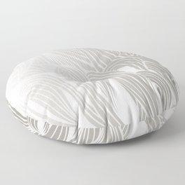 Silver & White Floor Pillow