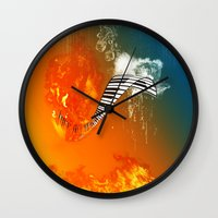 piano Wall Clocks featuring Piano by nicky2342