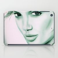 angelina jolie iPad Cases featuring Angelina Jolie by Lucky art