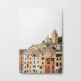 Photo of Portovenere, Cinque Terre Italy | Fine Art Colorful Travel Photography | Metal Print