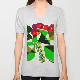 Grapes, Pomegranates, Blue Berries and Olives Unisex V-Neck
