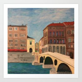 The Latin Bridge in Sarajevo, Bosnia Art Print