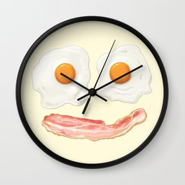 Eggs and Bacon Smile Wall Clock