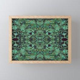 The Heirloom- Green Celtic Pattern Framed Mini Art Print