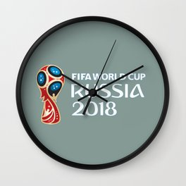 Fifa World Cup Russia 2018 Wall Clock