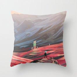 Alien Monolith Throw Pillow
