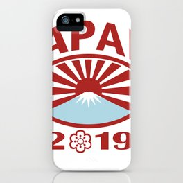 Japan 2019 Rugby Oval Ball Retro iPhone Case