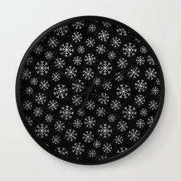 Silver Abstracts Wall Clock