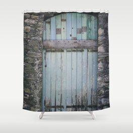 Old Blue Door II Shower Curtain