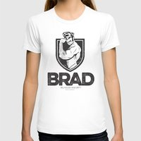 brad pitt T-shirts featuring BRAD by BradLee