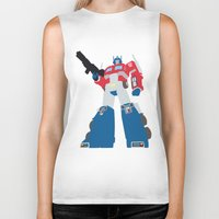 transformers Biker Tanks featuring Transformers G1 - Optimus Prime by TracingHorses