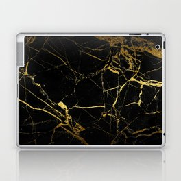 back & gold marble Laptop & iPad Skin