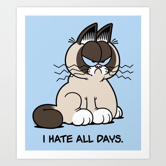 Always Grumpy Art Print