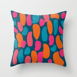 Colorful Pink Abstract Shape Pattern Throw Pillow