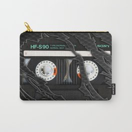 Retro classic vintage Black cassette tape Carry-All Pouch