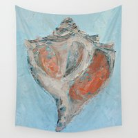 florida Wall Tapestries featuring Florida Conch by Ann Marie Coolick