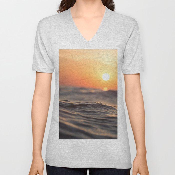 Sunset Wave Unisex V-Neck