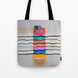 Torn Lighters Tote Bag