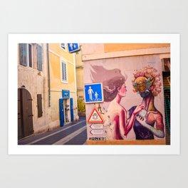 Marseille Street Art Art Print